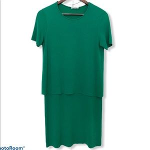 COS Green T-Shirt dress layerd WFH staple